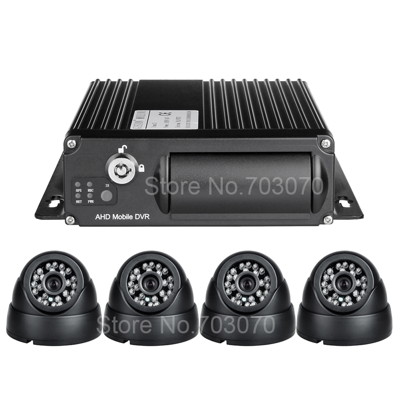 Linux System 4 Channel Video/Audio Input SD H.264 Real Time Remote Monitor 3G GPS Vehicle Car Camera AHD 1080 Mobile Dvr kits