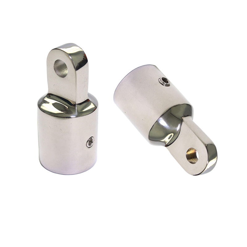 JEAZEA Marine Boat Yacht 2PCS Stainless Steel 7/8 22mm Pipe Eye End Cap Bimini Top Fitting Hardware
