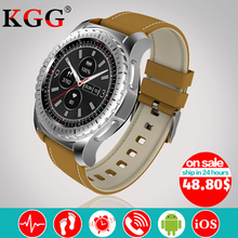 Продажа KW28 Bluetooth Smart часы Поддержка SIM/карты памяти Для мужчин наручные SportsWatch Фитнес трекер сердечного ритма часы для IOS и Android телефон