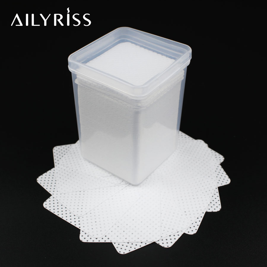 Lint-Free Cotton Paper Wipe Eyelash Glue Remover 180/200/540pcs Wipes Gel Nail Tips Polish Remover Eyelash Extension Supplies