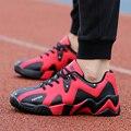 Plus Size Men Shoes Mens Trainers Flat Walking Shoes Breathable Casual Shoes Leather Sport Trainers Basket Zapatillas Hombre
