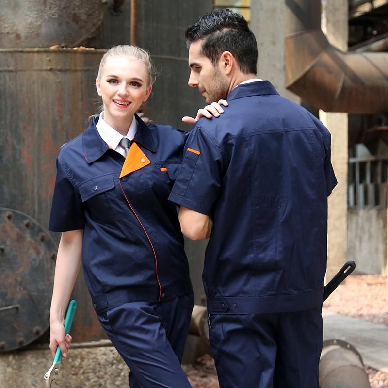 FASHION set of coat+ pants quality summer short-sleeve working uniform car service uniform