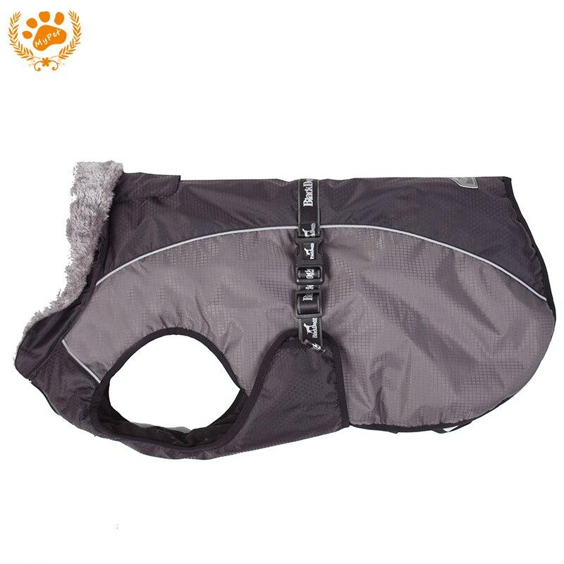 Hiver Chien Vêtements Pour Grand chien Pet Manteau Épais Vers Le Bas Veste Imperméable Avec Taille Ceinture Confortable Faux Col De Fourrure VC16-JK001