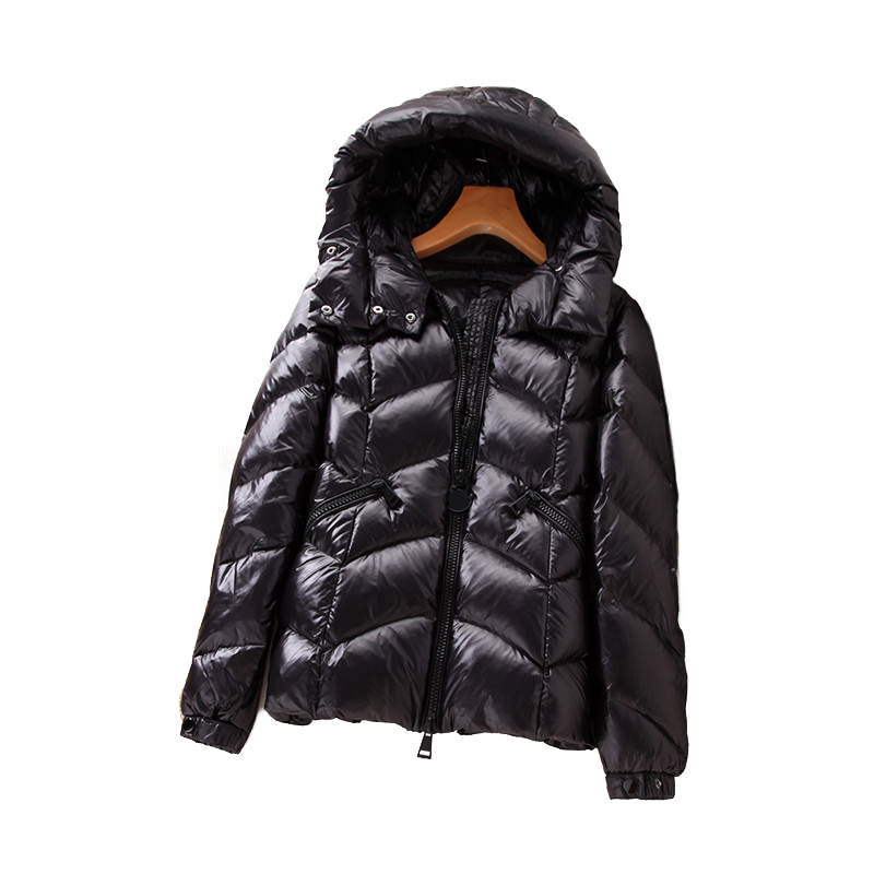 2019 Winter Parkas Women's   Down   Jacket Thicken Keep warm White duck   down     Coat   Students Hooded Tops Short   Down     Coats   Female H617