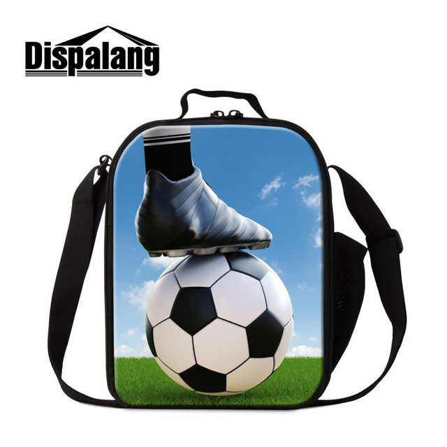 : Buy Dispalang Thermal Insulated Lunch Bags Ball Print Food Bag Children Picnic Travel Storage for Boys Kids Snack Tote Handbag from