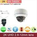 IP66 2 K UHD (4*720 P) 4mp câmera ip câmera de cctv ao ar livre com poe kit cabo HD 1080 P/1440 P câmera de segurança ONVIF GANVIS GV-T455V pk