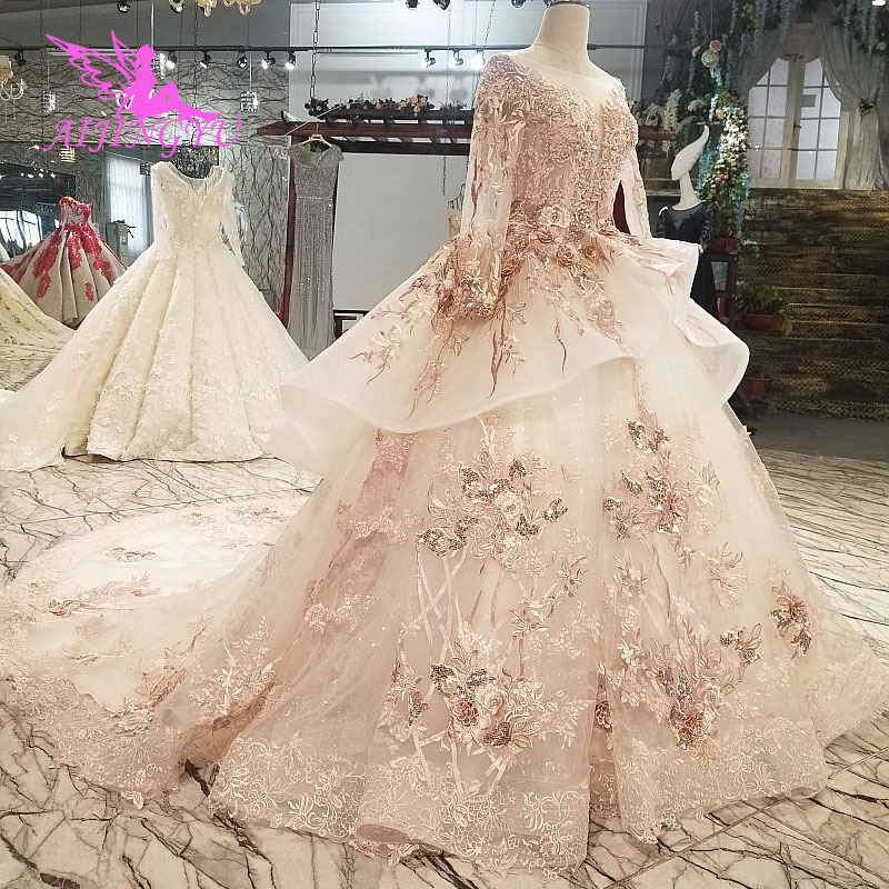 AIJINGYU Free Shipping On Wedding Formals Indonesia Bridal With Sleeves Ball Gown 2018 Chinese New Wedding Dress