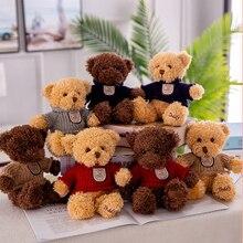 1pc 23cm hot peluches cute Teddy Bear stuffed animals kawaii plush toys children soft with Clothes Cartoon mini dolls gifts