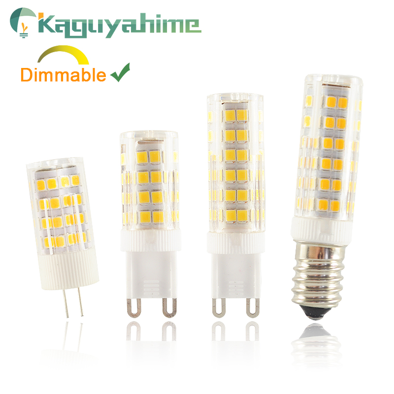 Kaguyahime 220V Dimmable LED Ceramic G9 G4 E14 Dimmable Lamp Bulb 3w 5w 7W 9W LED G9 G4 LightBulb For Chandelier Replace Halogen
