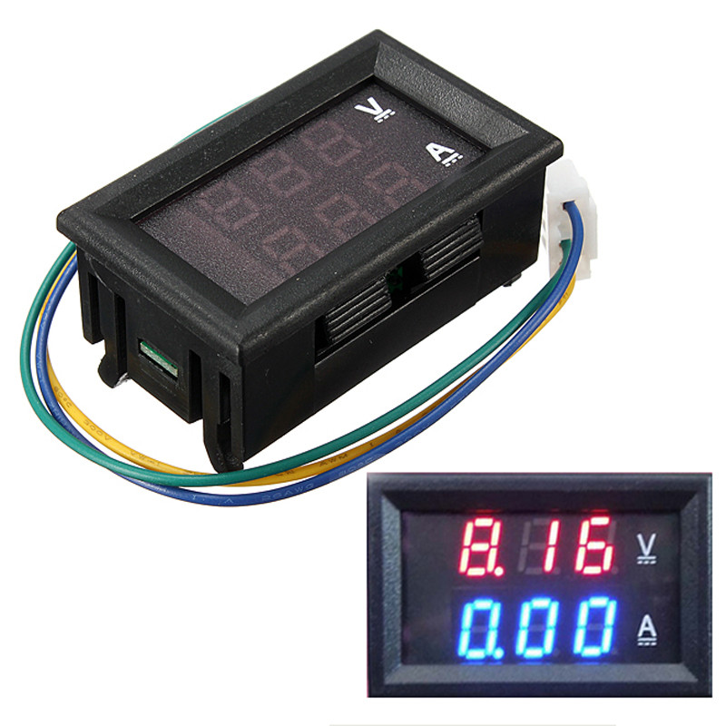 DC 4.5-30V 0-100A Dual LED Digital Voltmeter Ammeter Voltage Amp Meter Power Test voltage 0 ~ 100V