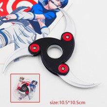 Naruto rotating fold shuriken, Bearing rotating darts, Anime weapon model toys, children's gifts.