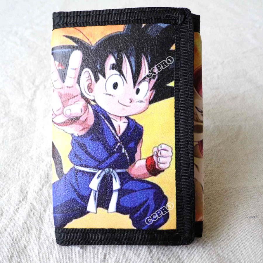 Anime Dragon Ball Short Polyester Wallet Super Saiyan Son Goku Son Gohan  Purse 02bd314ec6d