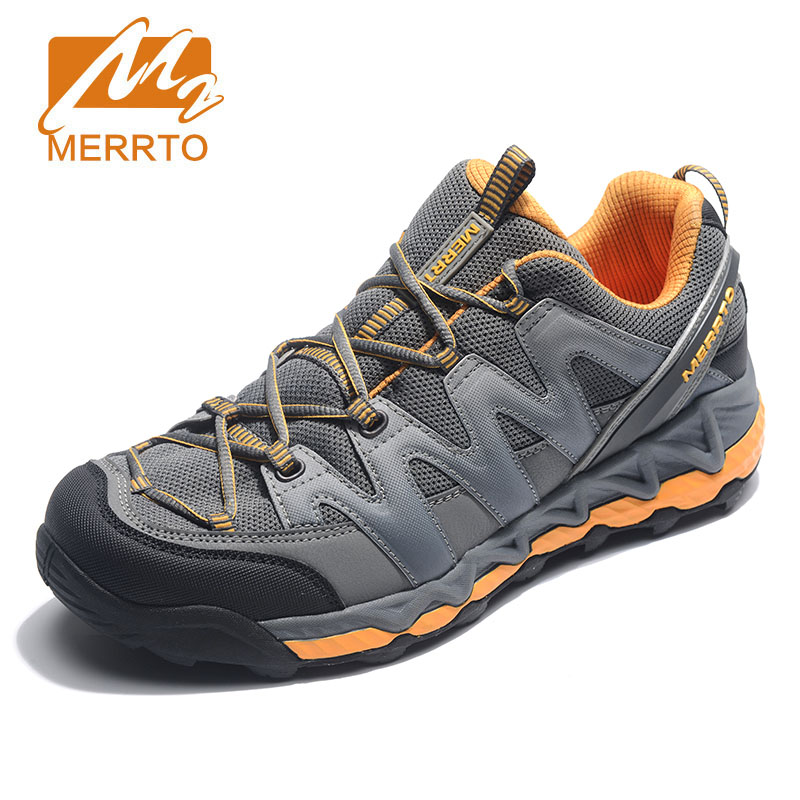 MERRTO Men's Outdoor Breathable Air Mesh Hiking Shoes Anti-skid wear resistant Male Sports camping Shoes Climbing Mountain Shoes merrto men s outdoor cowhide hiking shoe multi fundtion waterproof anti skid walking sneakers wear resistance sport camping shoe