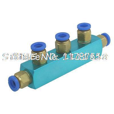 Air Hose Fitting 8mm 3 Way Push in Connect Quick Coupler Cbkud 8mm tube to 8mm tube plastic pipe coupler straight push in connector fittings quick fitting