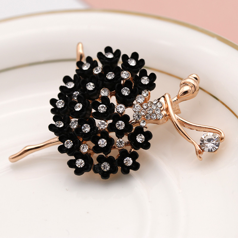 Fashion Alliage d/'or Multi-Couleur Strass Cristal Arbre Broche Col Broche Bijoux