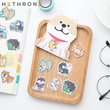 Hethrone 30pcs/bag Kawaii Shiba Inu Dogs Sticker Stationery Paper Adhesive Stickers For School Journal Decoration Supplies