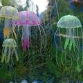Fish Jar Ornament Swim Artificial Glowing Jellyfish Aquarium Decoration 5*12cm Funny Toys 10pcs/lot