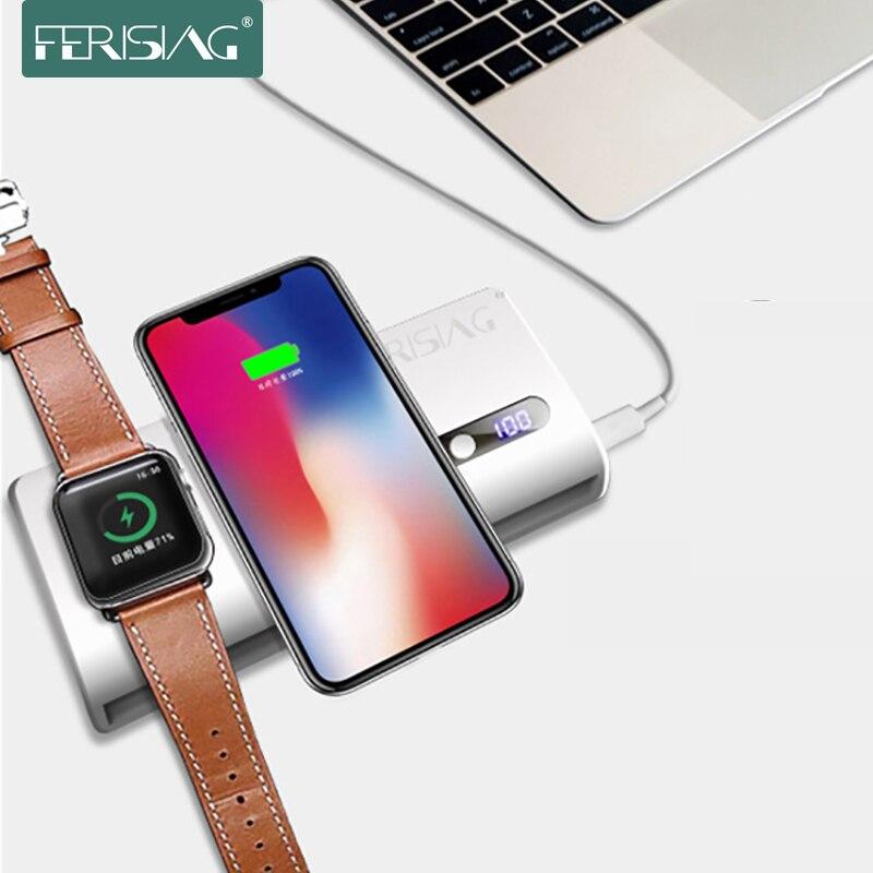 Pour iwatch 1 2 3 4 chargeur sans fil batterie externe 20000 mAh pour Apple Watch 4/3/2 iPhone X XS XR 8 Macbook chargeur de batterie externe