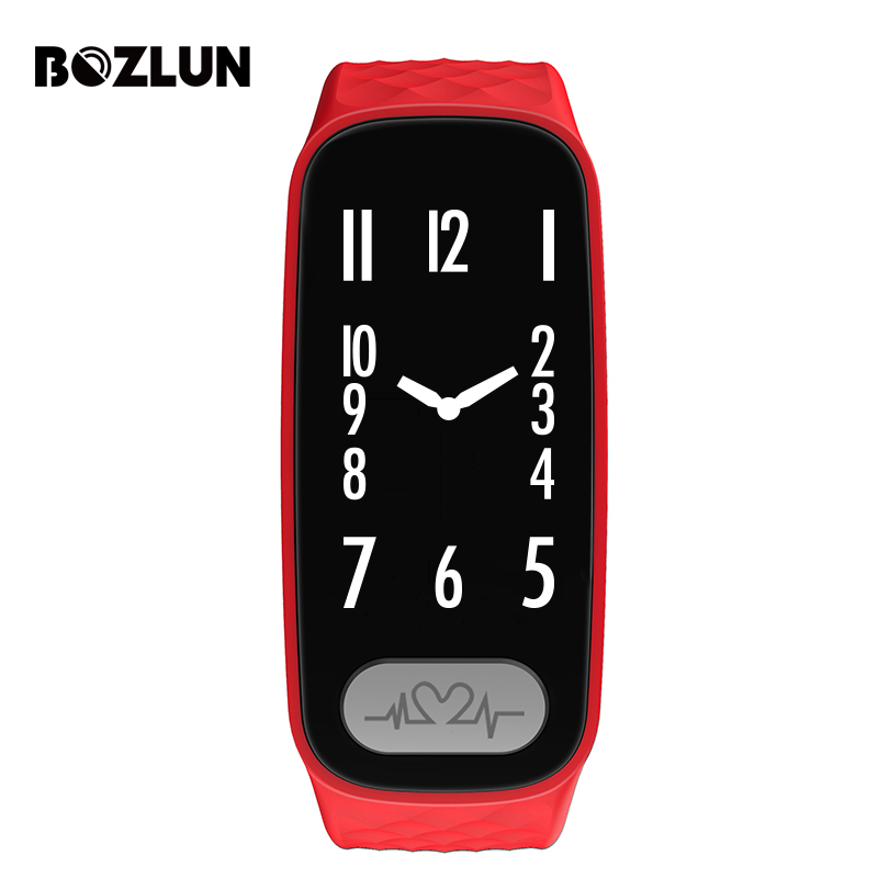Bozlun Mens And Womens Smart Bluetooth Watch With Heart Rate Monitor Pedometer Sleep Fitness Tracker for Andriod And IOS epic bluetooth wifi gps heart rate smart watch phone for android ios 2g 3g pedometer sleep tracker health smart watch dm368