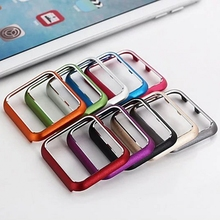 Aluminum Watch Case For Apple i Watch 38/42mm Luxury Metallic Candy Colors Sport Accessories Armor Metal Tough Hard Cover Fundas