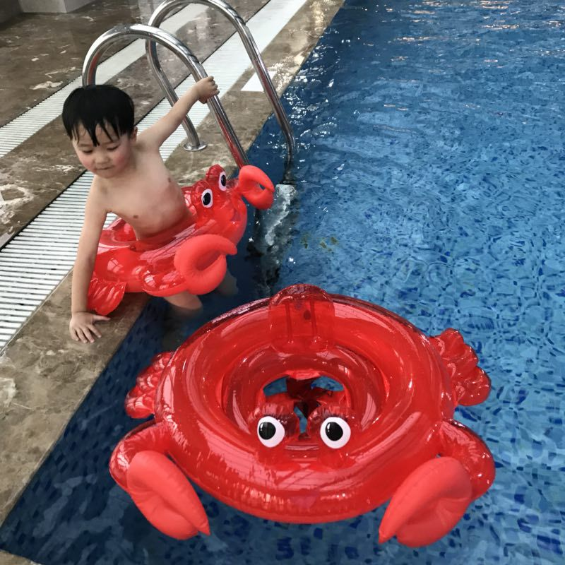 Baby Crab Flamingo Ride-on Swimming Ring Inflatable Swan Pool Float For Kids Summer Water Beach Toys Safety Seat Boia Piscina