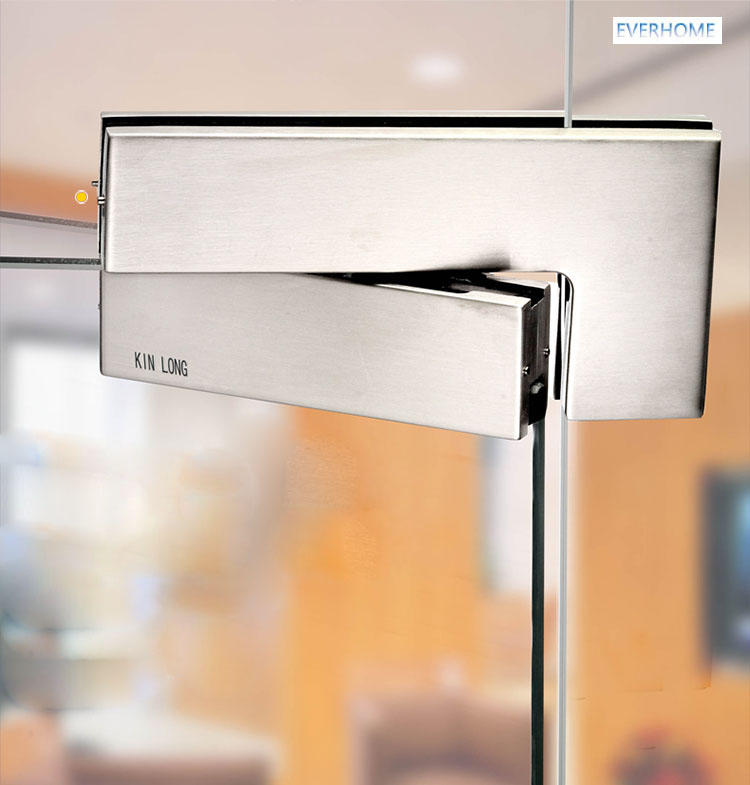 304 porta de vidro de aço inoxidável clipe curvo 7 palavra porta clipe grampo para 10 12mm de vidro de carga 250KGS, DHL livre - 3