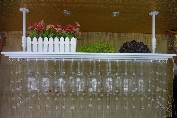 Perles de cristal les mieux notées casier à vin en fer support de verre à vin support de verre mural casier à vin 60 cm (L) 35 cm (W)
