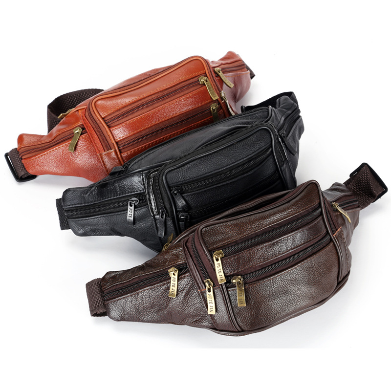 Hot PU Leather Waist Packs Fanny Pack Belt Bag Phone Pouch Bags Travel Waist Pack Male Small Waist Bag Leather Pouch сумка newswear small fanny pack