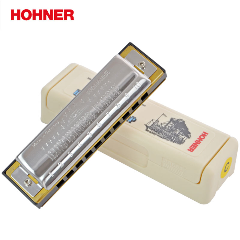 Hohner Big River 10 Hole Harmonica Bules Diatonic Harp, Sound wild Harmonica Key C Blues