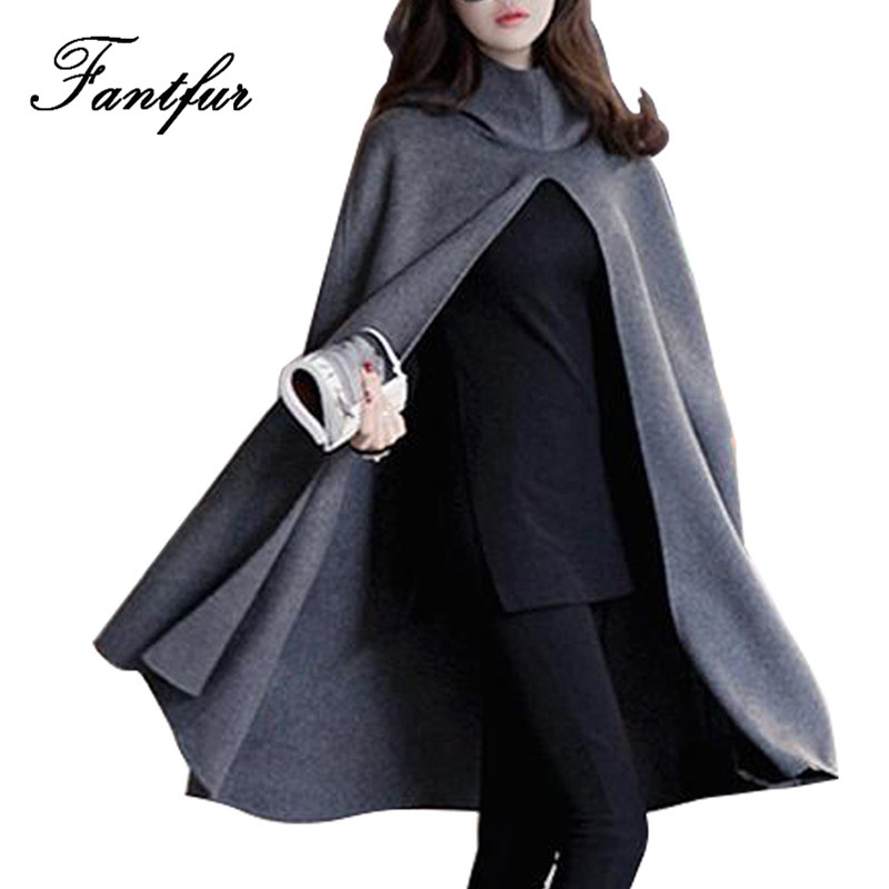 online kaufen gro handel womens cape mantel aus china. Black Bedroom Furniture Sets. Home Design Ideas