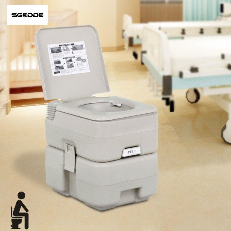 0927fbd298 SGODDE 20L Portable Toilet Load 200kg Flush Travel Outdoor Camping Hiking  Toilet For Old Man Pregnant