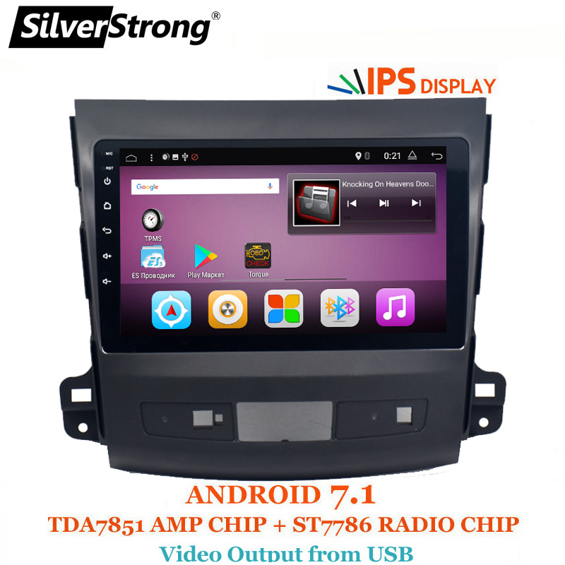 SilverStrong 9 pollici IPS matrix Android7.1 DVD Dell'automobile Per Mitsubishi Outlander 2007-2012 Android Radio RDS SPECCHIO-LINK