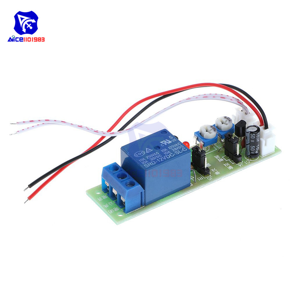 JK11 Adjustable Cycle Timer Delay On/Off Switch Power Supply Relay Shield <font><b>DC</b></font> 5V 12V 24V Timer Delay Relay Module (0 -15 Minutes) image