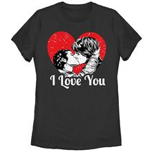 Star Wars Women's Han and Leia I Love You Heart T-Shirt Harajuku Shirt Funny Femme Brand Clothing 2017 Summer Female T Shirt t shirt chicco size 086 flower i love you pink