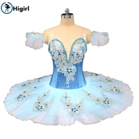 Higirl BT9142 взрослых профессиональных шифон балетная пачка юбка для танцев танец скейт для девочек, практика Юбка для балета Небесно Голубой