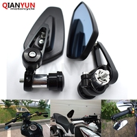 Universal 7/8 22mm handle bar motorcycle bar end mirror Motorcycle Mirror FOR KAWASAKI Z250 Z800 Z1000 12 13 14 15
