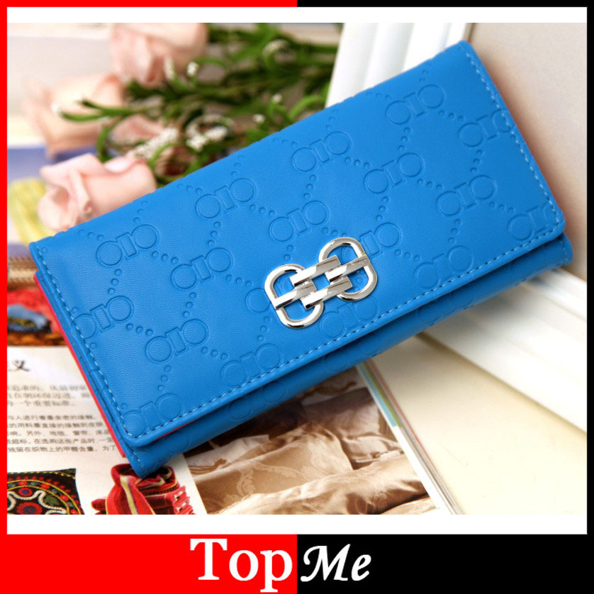Fashion women wallets PU leather lady handbags money coin purse Long clutch Female wallet cards holder Moneybags Burse Wholesale