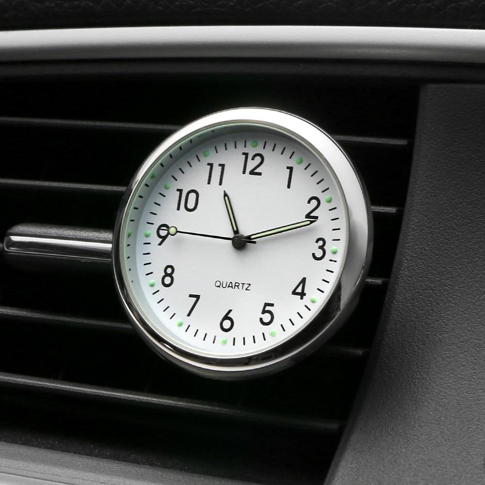 Car Clock Clip Air Freshener Luminous Auto Watch Automobiles Air Vent Mechanics Quartz Clock Automovil Styling Accessories Gifts