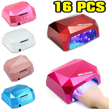 Wholesale! Sensor LED Nail Lamp Nail Dryer Diamond Shaped 36W LED CCFL Curing Nail Tools for UV Gel Nail Polish Art Tools Dimond