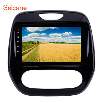 Seicane 9 Android 8.1 2DIN Car Head Unit Radio GPS Multimedia Player For Renault Captur CLIO Samsung QM3 Manual A/C 2011-2016 image
