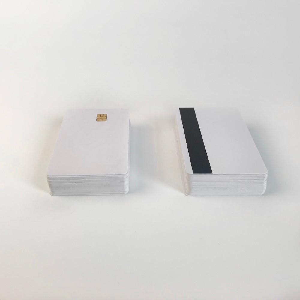 Leuk 50x Inkjet Contact Sle4442 Chip Pvc-kaart Met Hico 3-track Magnetische Strip Pvc Id-kaart Afdrukken Door Epson Of Canon Inkjet Printer Fijn Verwerkt