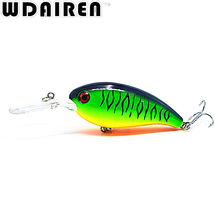 1Pcs Wobblers Crank bait 10cm 14g Hard Fishing Tackle Swim bait Crank Bait Bass Fishing Lures 7 Colors  pike perch NR-198