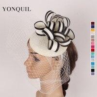 Nouvelle arrivée femmes Élégantes parti ivoire fascinateur chapeau de mariée voiles de mariage fascinateur base chapeau chic attrayant chapeaux SYF97