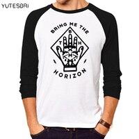 Fashion Bring Me The Horizon T Shirt Men Hip Hop Music Band Fitness T Shirt Cotton