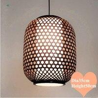 Südostasien stil hand stricken bambus kunst Kronleuchter Kaffee E27 LED laterne lampe für veranda & parlor & treppen & korridor LHDD038