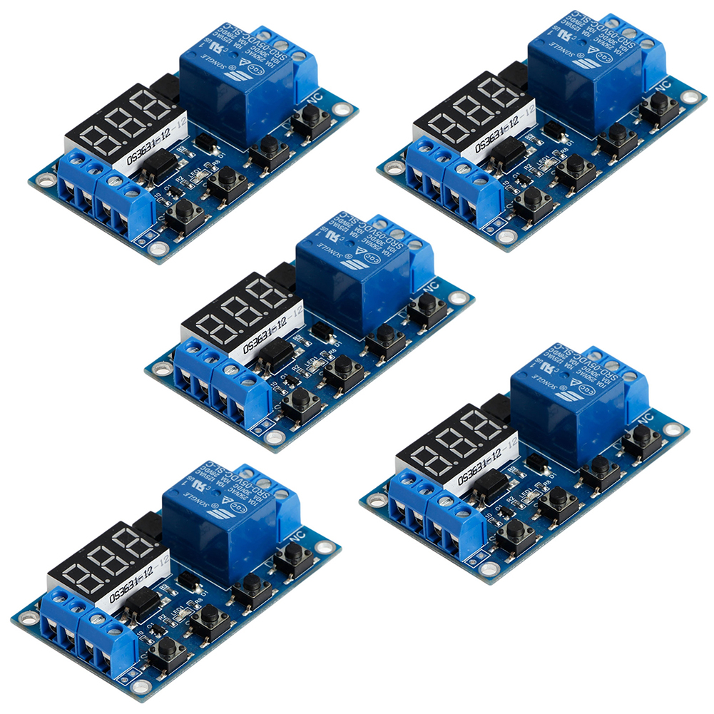 5Pcs/lot 1 Channel 6-30V Relay Module Switch Trigger Time Delay Circuit Timer Cycle Adjustable FZ0559A