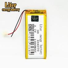 Bateria de polímero de 1300 mah 3.7V 404070 casa inteligente MP3 alto-falantes Li-ion bateria para dvr, GPS, mp3, mp4, MID PDA Power Bank, E-book