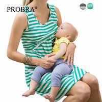 Nuevos vestidos de lactancia maternidad Casual ropa verano embarazo tapas vestido sin mangas suelto corto mujeres lactancia XL