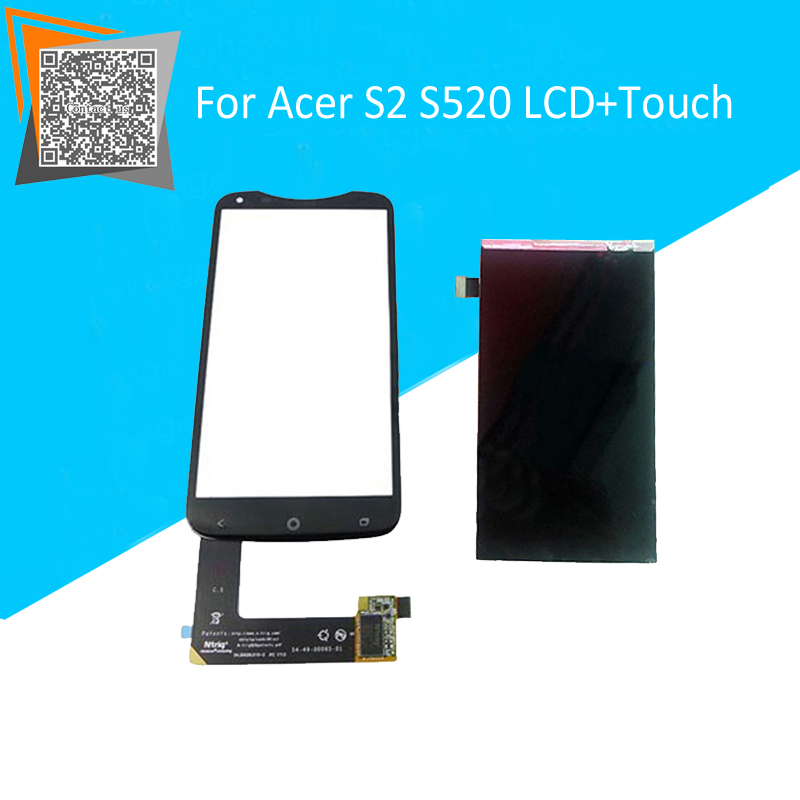 NEW Original for Acer Liquid S2 S520 LCD Display Screen + Touch Screen Digitizer Separatly High Quality Replacement Parts