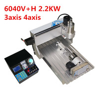 6040 CNC Router 2.2KW 3axis 4axis Metal Cutting aluminum frame engraver